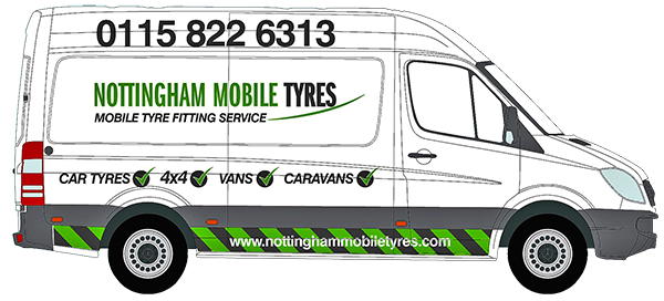 Nottingham Mobile Tyres Van - Mobile Tyre Fitting Nottingham | Same Day Service - Only Tyres, Puncture Reapirs and Roadside Assistance